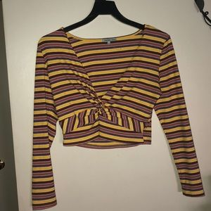 Striped Long sleeve size: L crop top